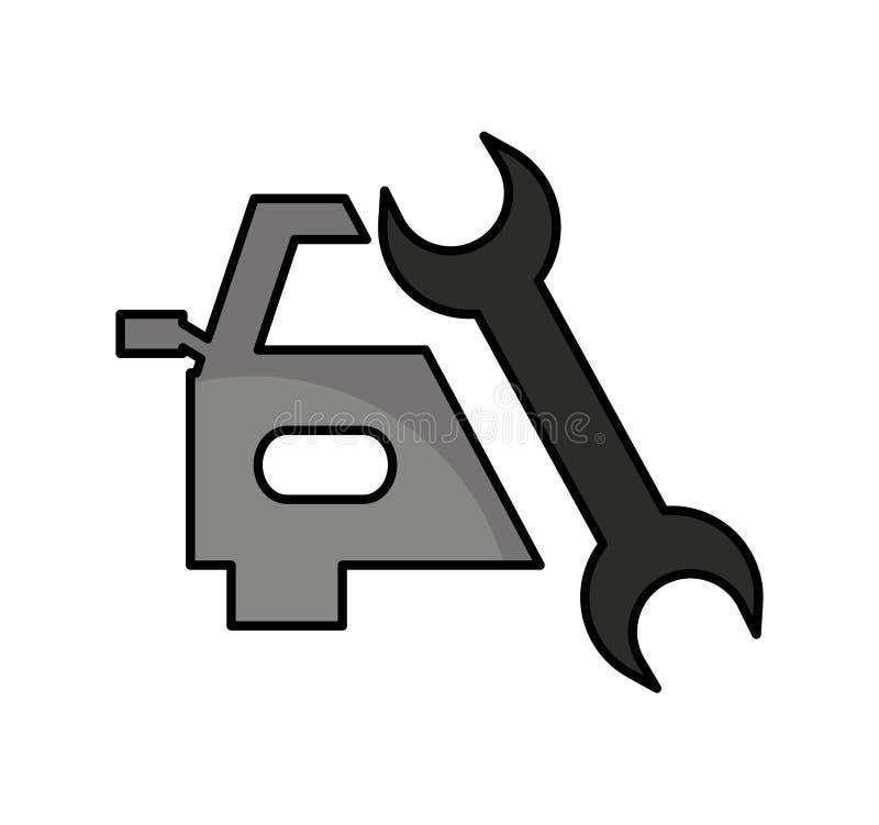icône d'isolement automatique de service des réparations illustration libre de droits