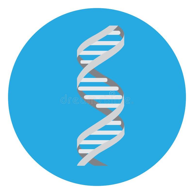 Icône d'isolement d'ADN illustration libre de droits