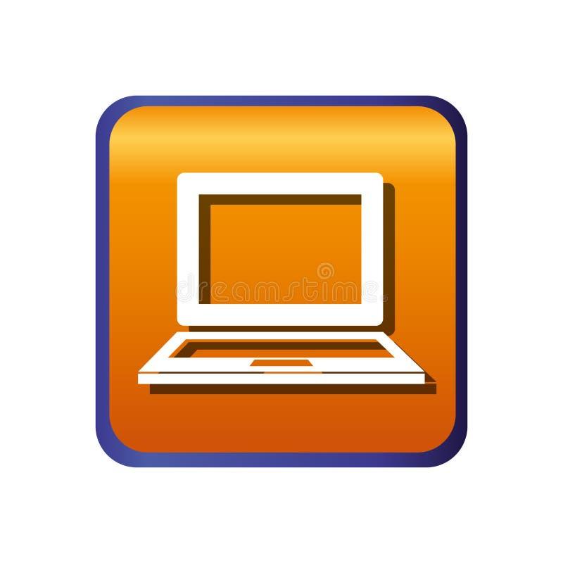 Download Icône D'isolement D'ordinateur Portable Illustration de Vecteur - Illustration du objet, lustré: 87704345