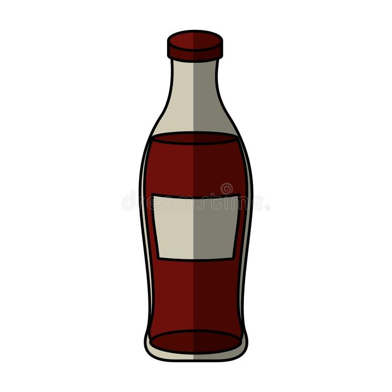 icône d'isolement de bouteille de soude illustration stock