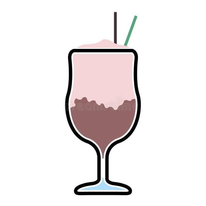 Ic?ne d'isolement de milk-shake illustration libre de droits