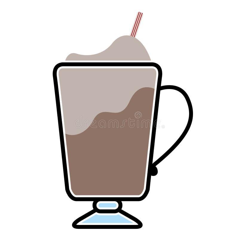 Ic?ne d'isolement de milk-shake illustration stock