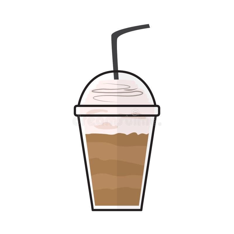 Ic?ne d'isolement de milk-shake illustration de vecteur