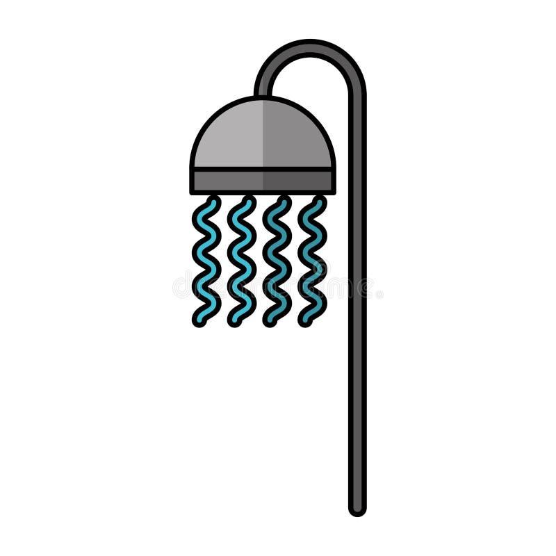 Icône d'isolement de robinet de baignoire illustration de vecteur