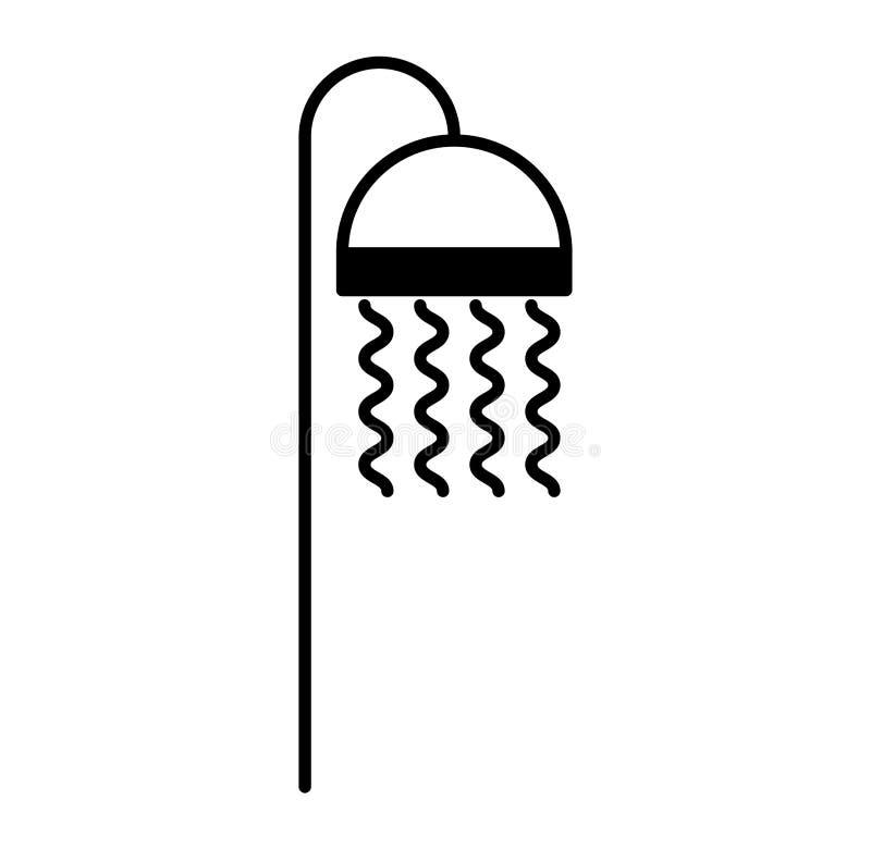 Icône d'isolement de robinet de baignoire illustration libre de droits