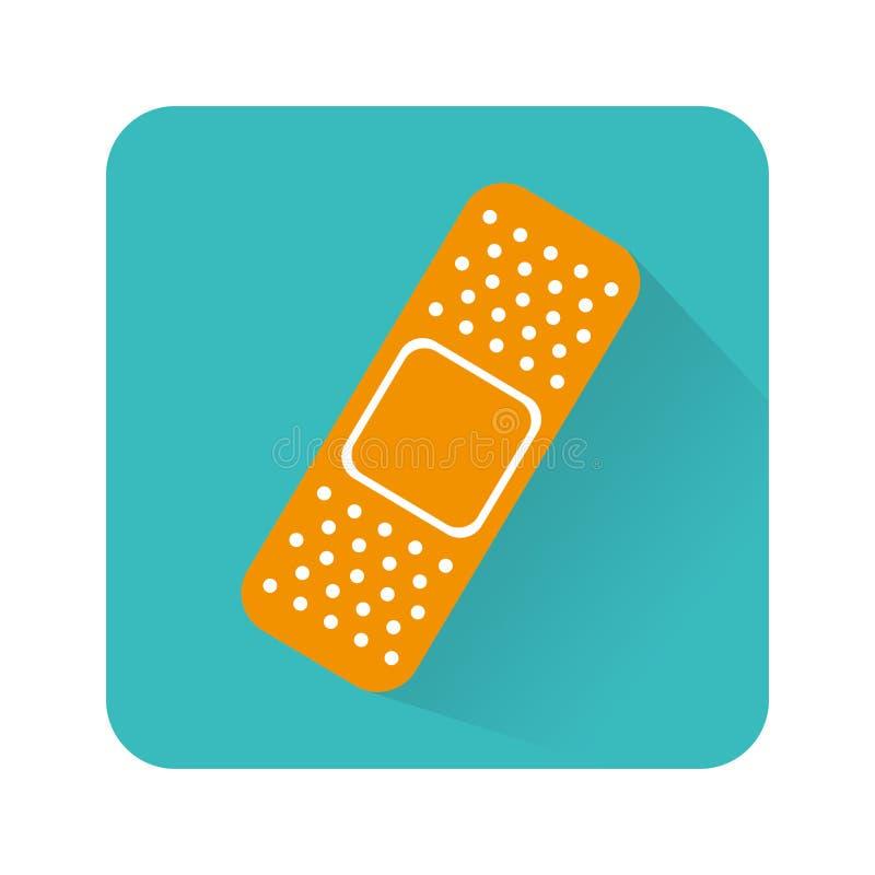 Icône d'isolement médicale de bandage illustration libre de droits