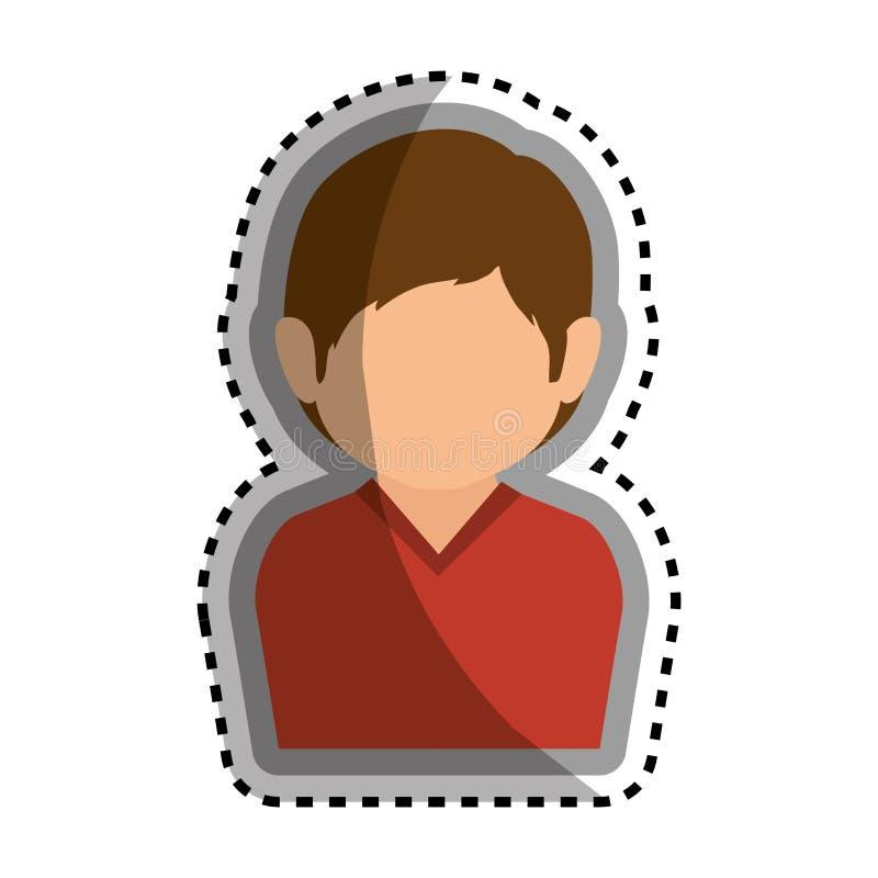 Download Icône D'isolement Par Caractère D'avatar D'homme Illustration de Vecteur - Illustration du dessin, avatar: 87704518