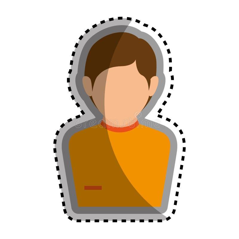 Download Icône D'isolement Par Caractère D'avatar D'homme Illustration de Vecteur - Illustration du illustration, fond: 87704533