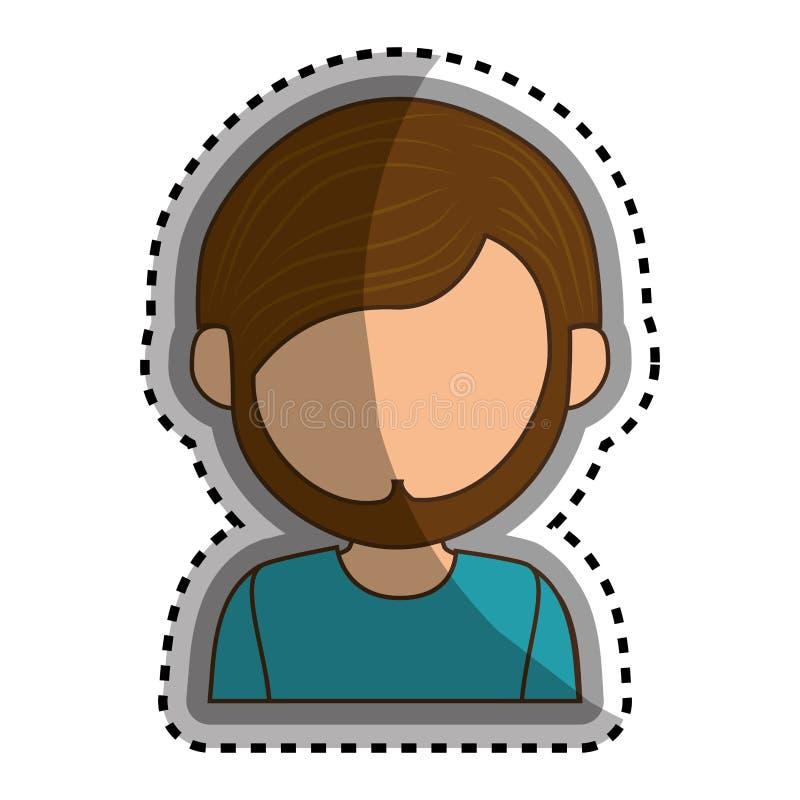 Download Icône D'isolement Par Caractère D'avatar D'homme Illustration de Vecteur - Illustration du personne, verticale: 87704642