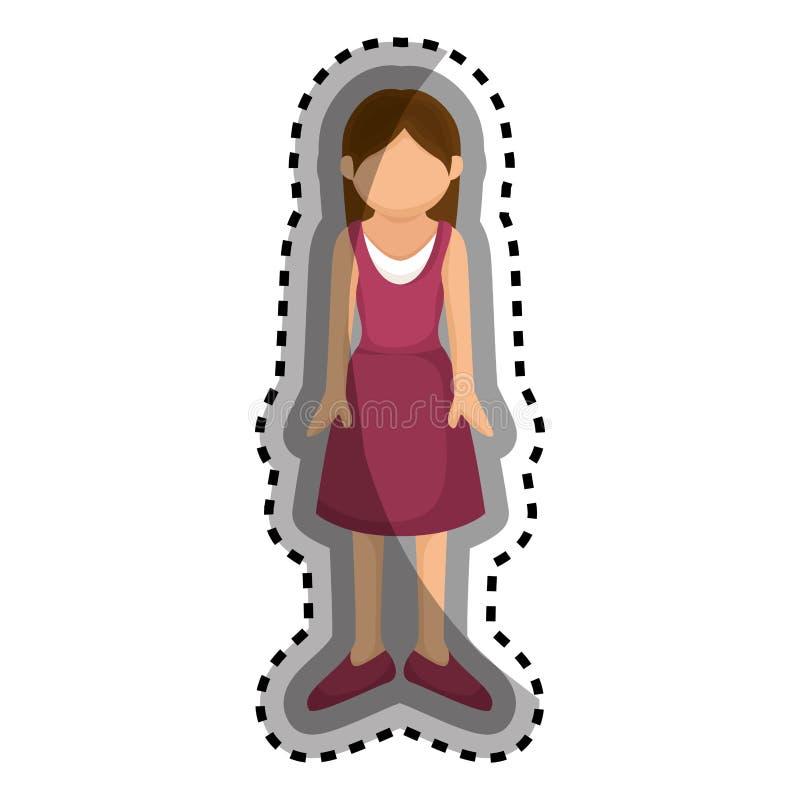 Download Icône D'isolement Par Caractère D'avatar De Femme Illustration de Vecteur - Illustration du utilisateur, femme: 87704445