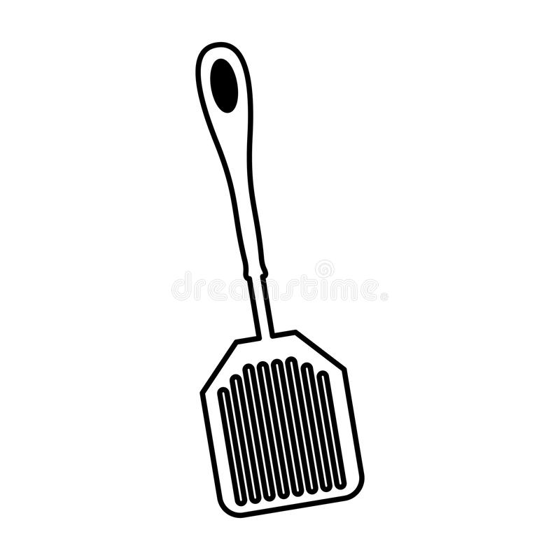 Icône d'isolement par couverts de cuisine de spatule illustration libre de droits