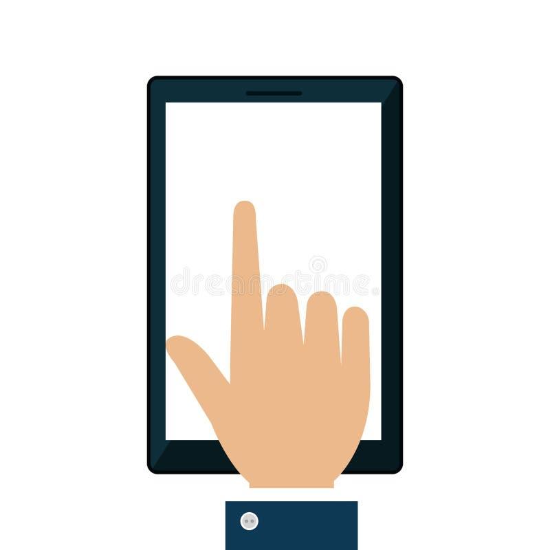 Download Icône D'isolement Par Dispositif De Smartphone Illustration de Vecteur - Illustration du appel, technologie: 87704214