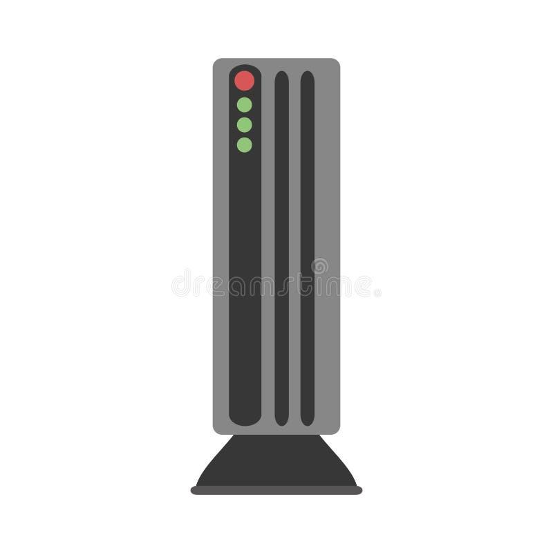 Icône d'isolement par dispositif sain de haut-parleur illustration stock