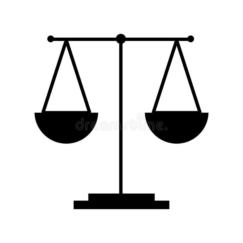 icône d'isolement par justice d'échelle illustration de vecteur