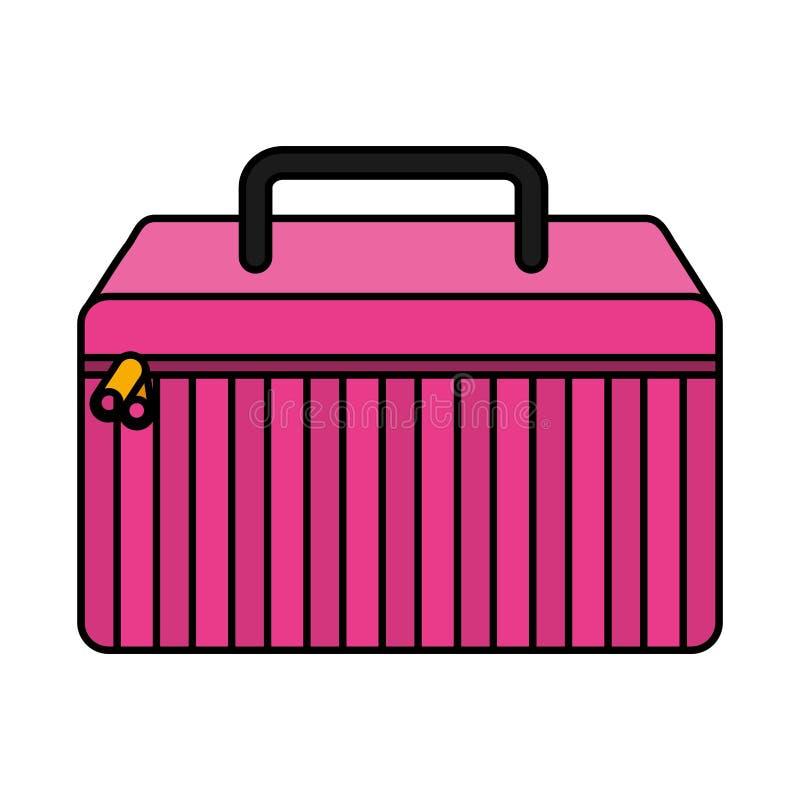 icône d'isolement par kit de maquillage illustration de vecteur