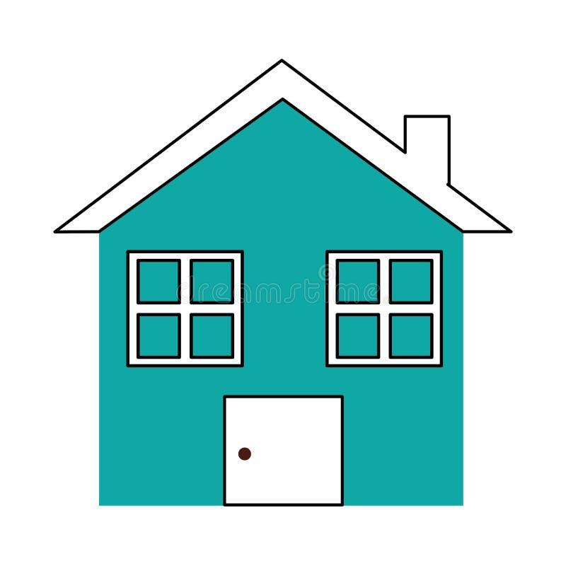 Icône d'isolement par maison à la maison illustration de vecteur