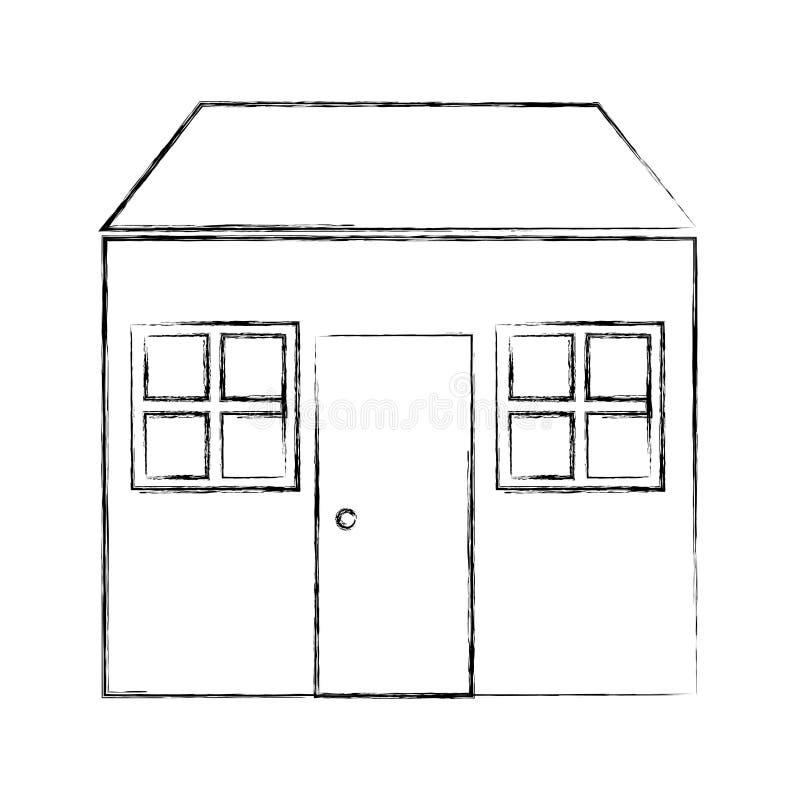 Icône d'isolement par maison à la maison illustration libre de droits