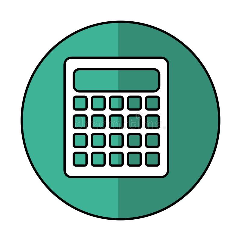 Icône d'isolement par maths de calculatrice illustration de vecteur