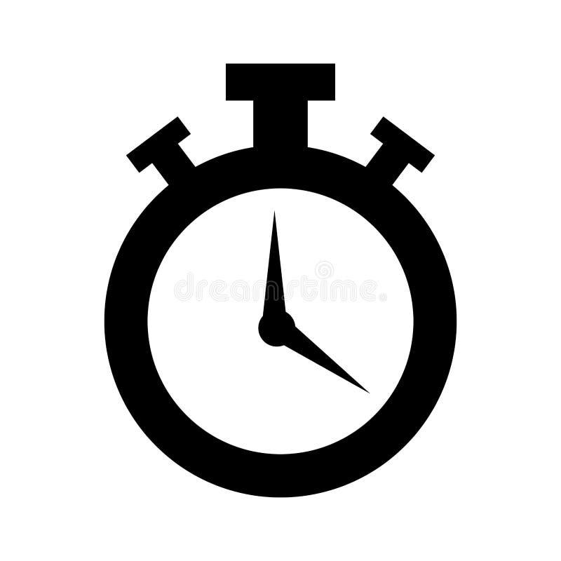 Icône d'isolement par montre de chronomètre illustration libre de droits
