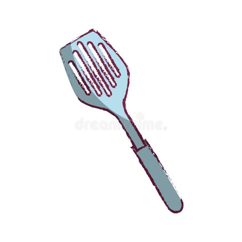 icône d'isolement par outil de cuisine de spatule illustration libre de droits