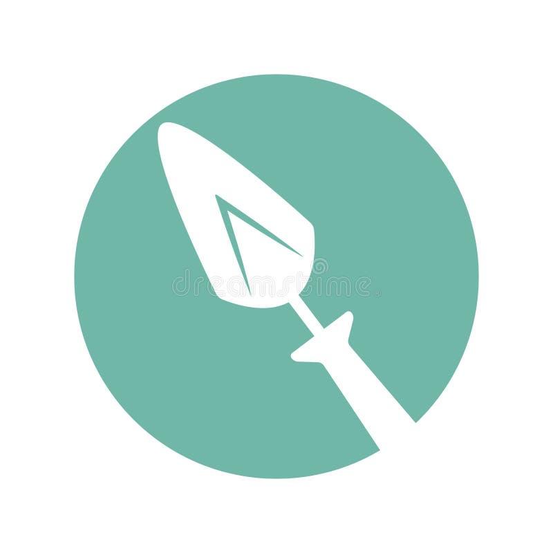 Icône d'isolement par outil de spatule illustration de vecteur