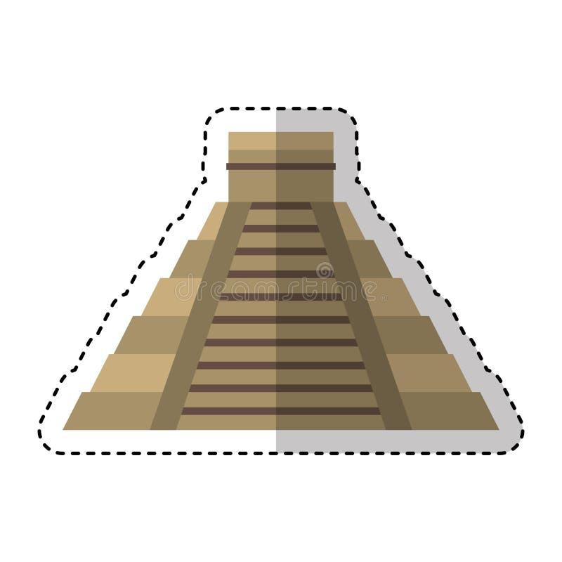 Icône d'isolement par pyramide maya illustration libre de droits