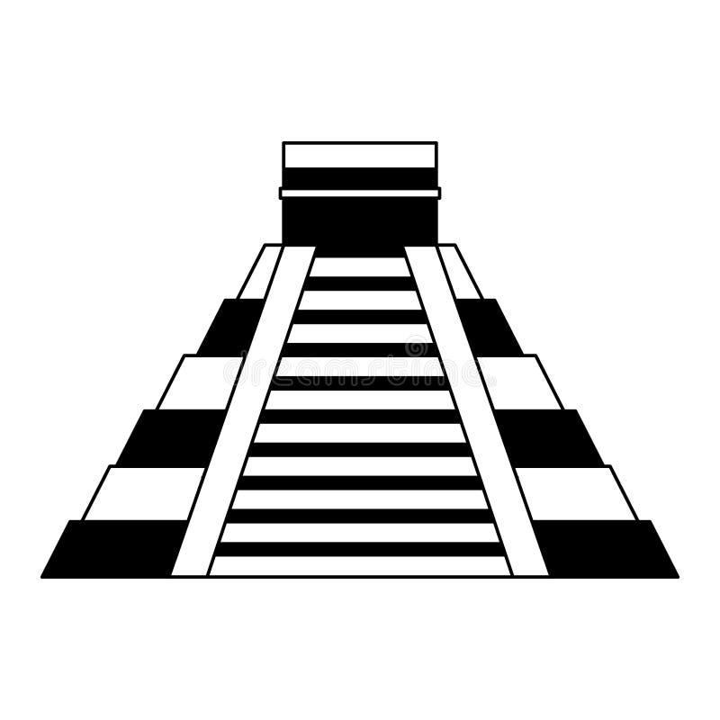 Icône d'isolement par pyramide maya illustration de vecteur