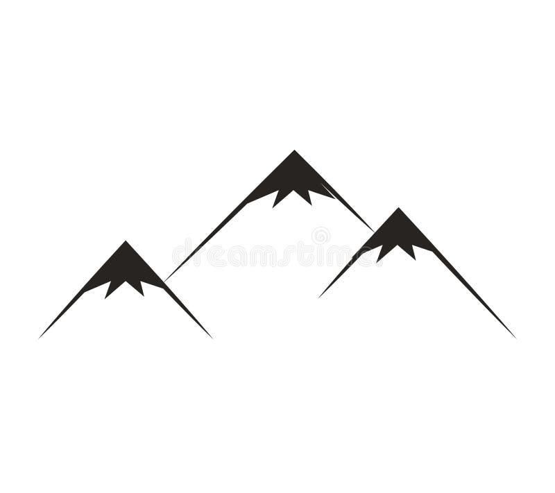 icône d'isolement par silhouette de montagne illustration de vecteur