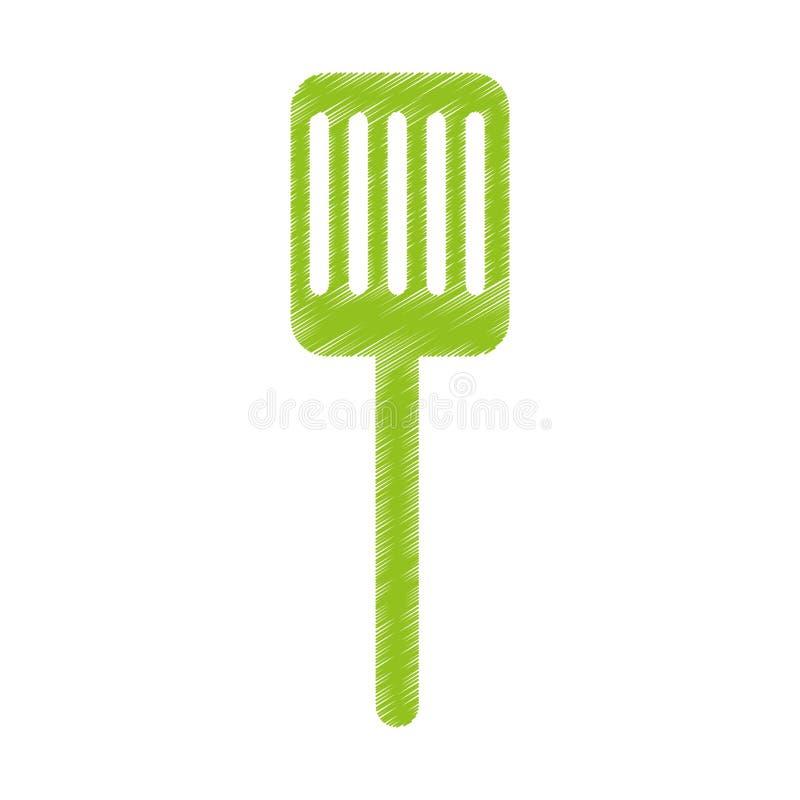 icône d'isolement par spatule de cuisine illustration stock