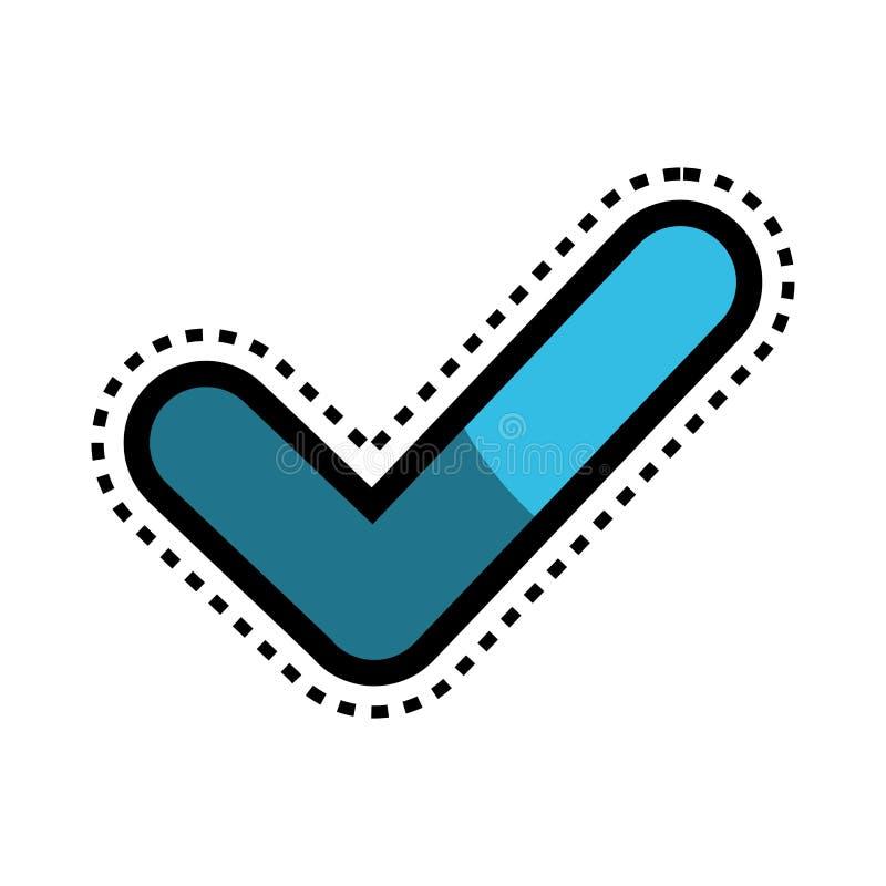 icône d'isolement par symbole correct illustration libre de droits