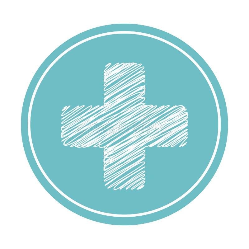 Download Icône D'isolement Par Symbole Médical Croisé Illustration de Vecteur - Illustration du star, insignes: 87704083