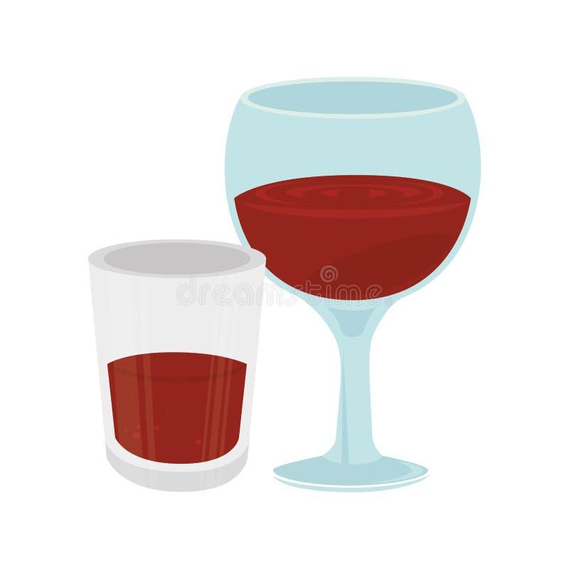 Download Icône D'isolement Par Tasse De Vin Illustration de Vecteur - Illustration du cabernet, glace: 87703870