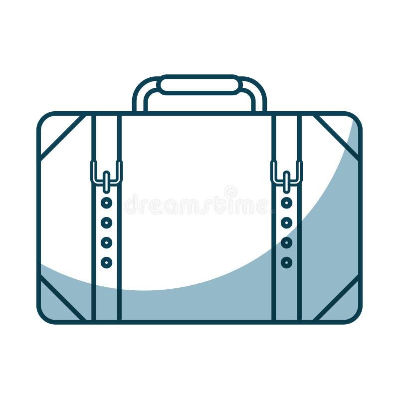 icône d'isolement par valise de voyage illustration stock