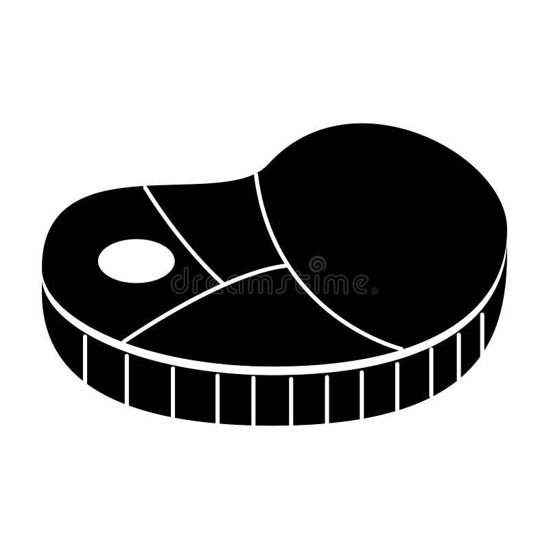 icône d'isolement par viande de bifteck illustration de vecteur