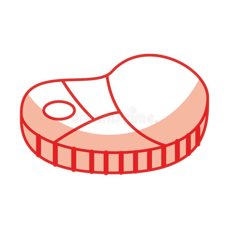 icône d'isolement par viande de bifteck illustration libre de droits