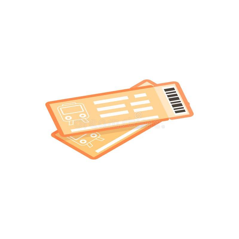 Icône 3d isométrique de billets de train illustration libre de droits