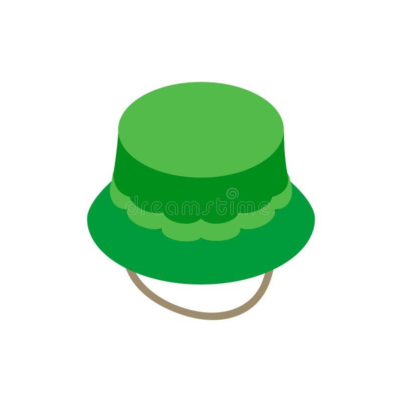 Icône 3d isométrique de chapeau de pêcheur illustration libre de droits