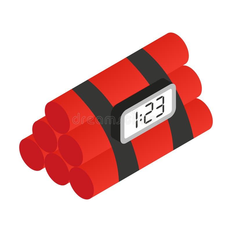 Icône 3d isométrique de dynamite illustration stock