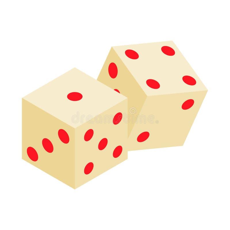 Icône 3d isométrique de matrices blanches illustration stock