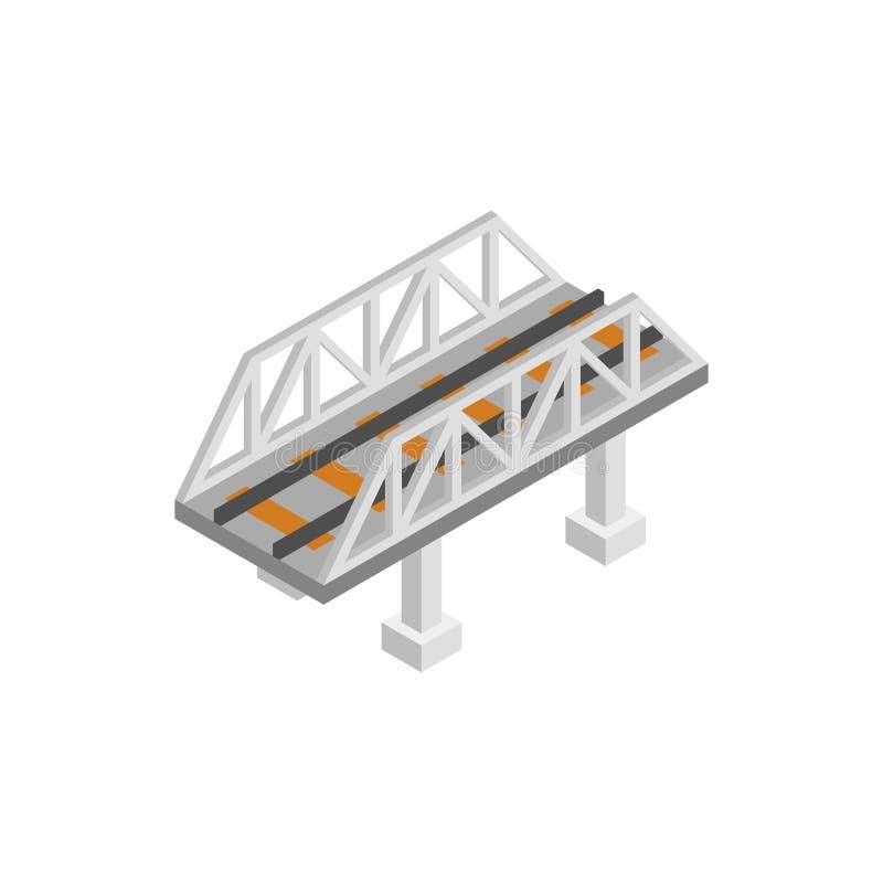 Icône 3d isométrique de pont en rail illustration libre de droits