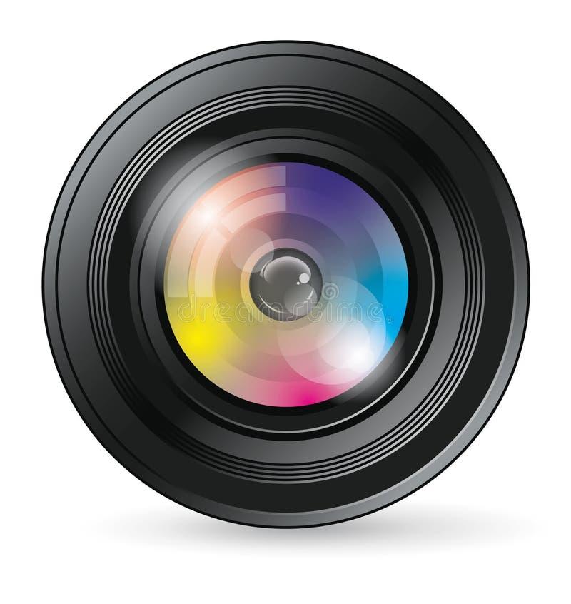 Icône d'objectif de caméra illustration libre de droits