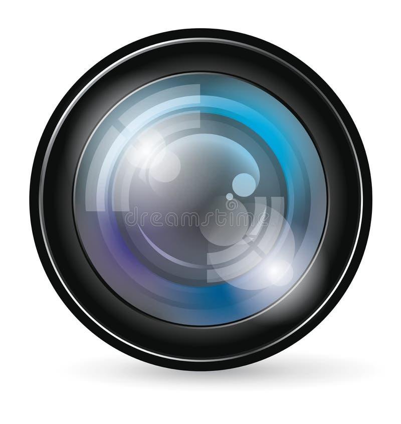 Icône d'objectif de caméra illustration de vecteur