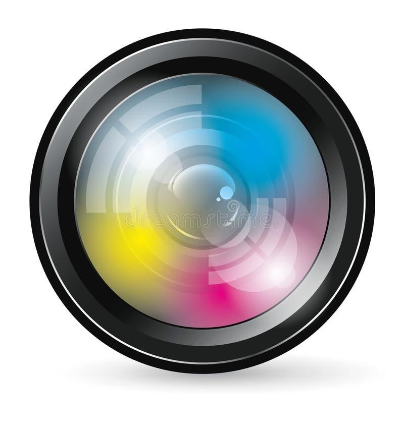 Icône d'objectif de caméra illustration stock