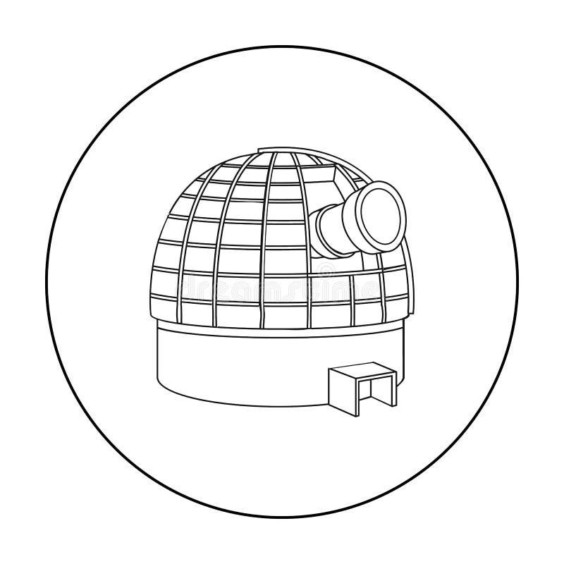 Icône d'observatoire dans le style d'ensemble d'isolement sur le fond blanc Illustration de vecteur d'actions de symbole de l'esp illustration de vecteur