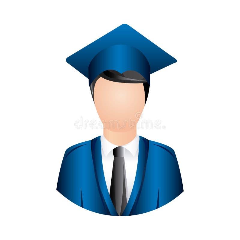 Download Icône D'obtention Du Diplôme D'homme De Couleur Illustration Stock - Illustration du université, diplôme: 87709739