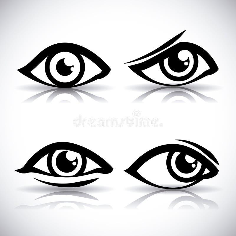 Icône d'oeil illustration libre de droits