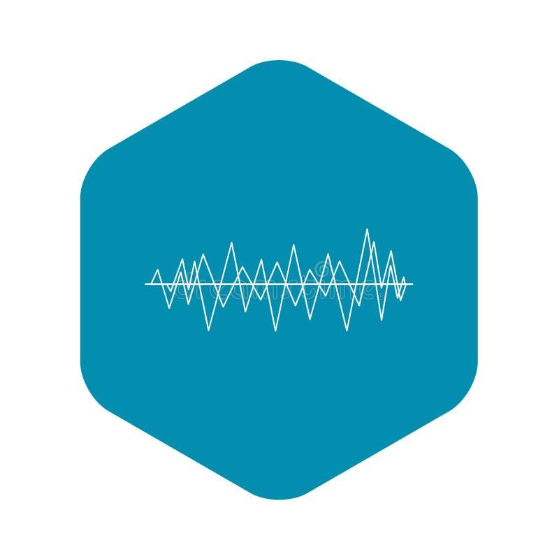 Ic?ne d'onde sonore, style simple illustration de vecteur