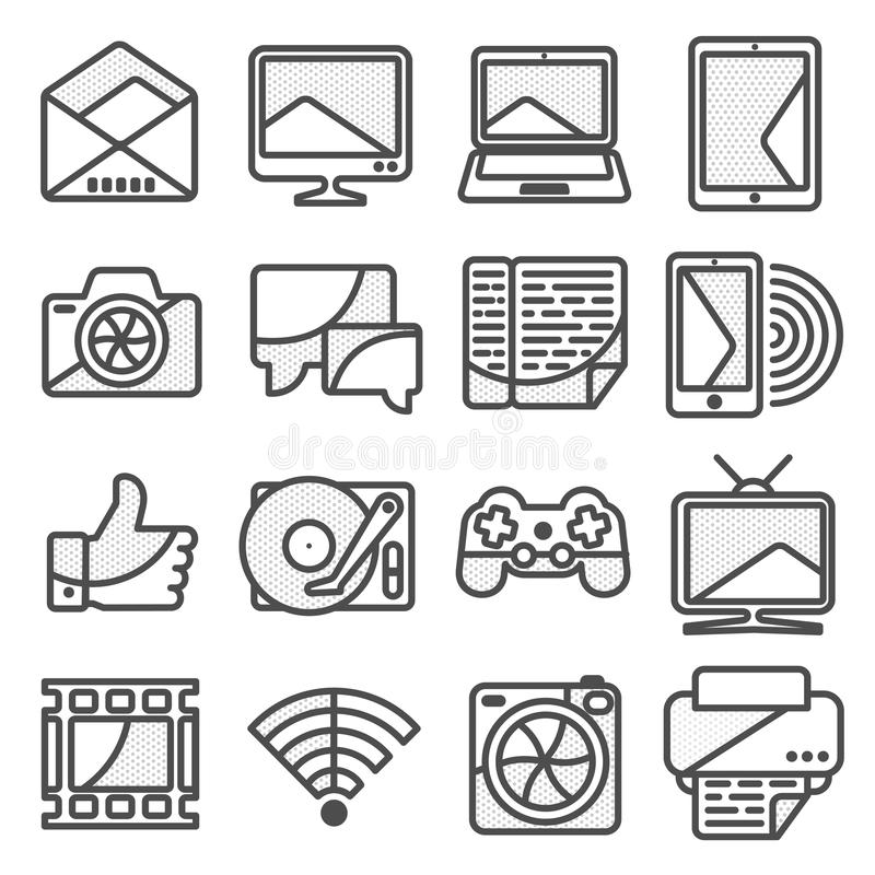 Icône d'ordinateur dans le linestyle illustration stock