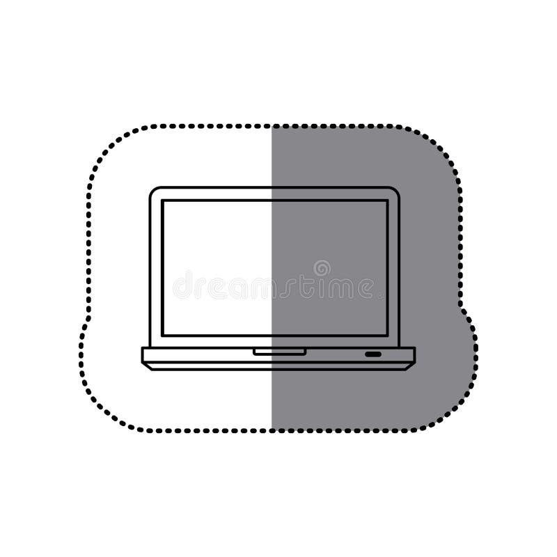 Download Icône D'ordinateur Portable De Technologie De Silhouette D'autocollant Illustration Stock - Illustration du ordinateur, connexion: 87704651