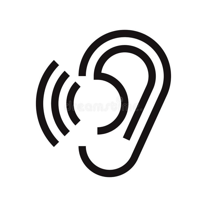 Icône d'oreille illustration stock